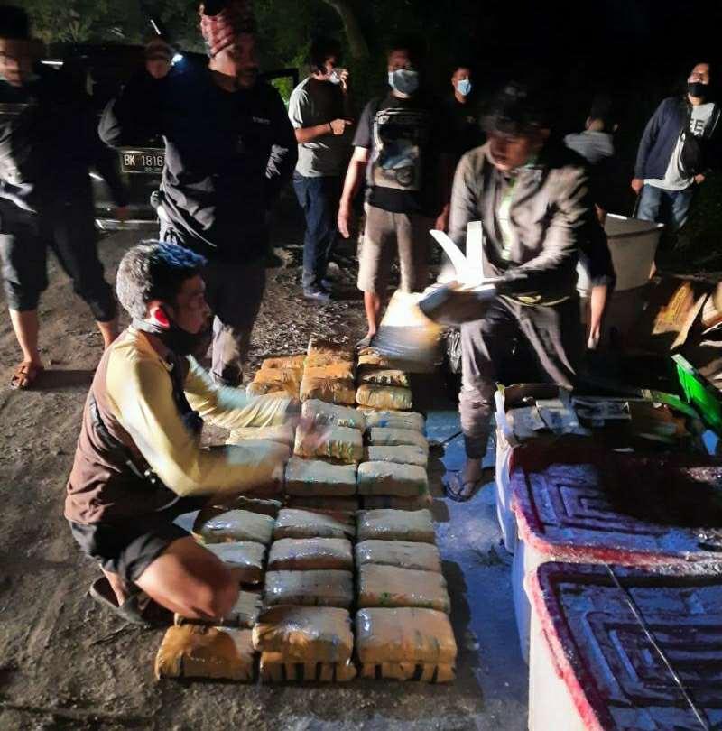 Peredaran Ganja 141 Kg Digagalkan, BNN Ringkus 5 Orang Pelaku