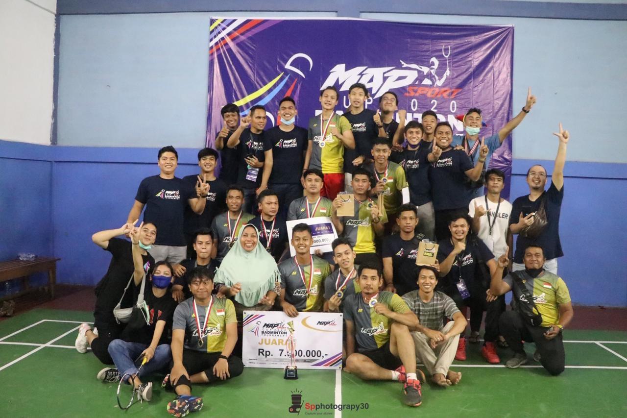 Map Sport Club Juara Turnamen Bulutangkis