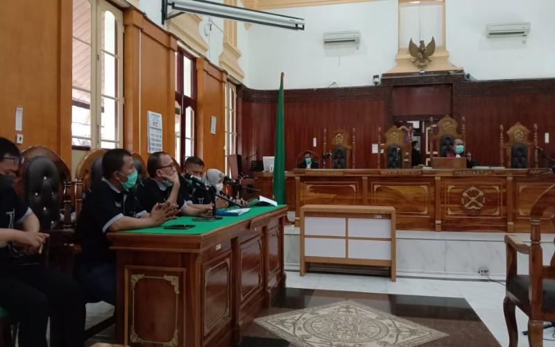 Sidang Prapid Ketua KAMI Medan di ruang Cakra Utama Pengadilan Negeri (PN) Medan