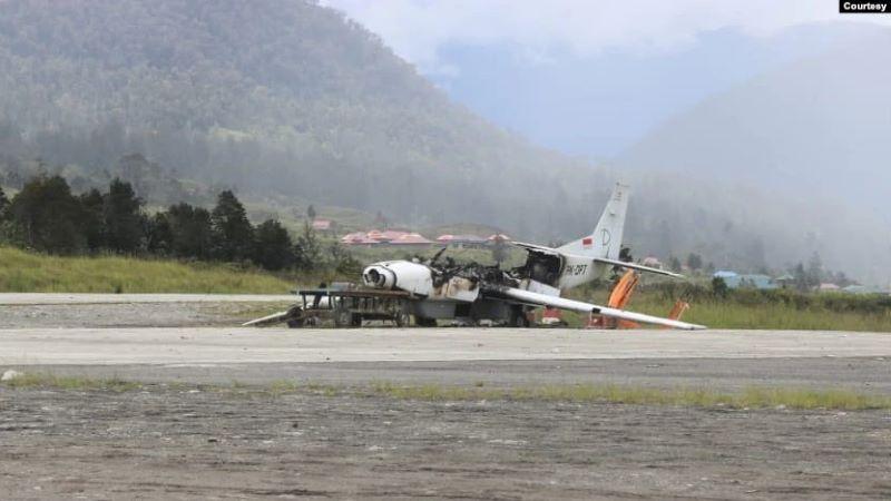 Baku Tembak, 3 Warga Sipil Tewas dan Pesawat Dibakar di Ilaga Papua