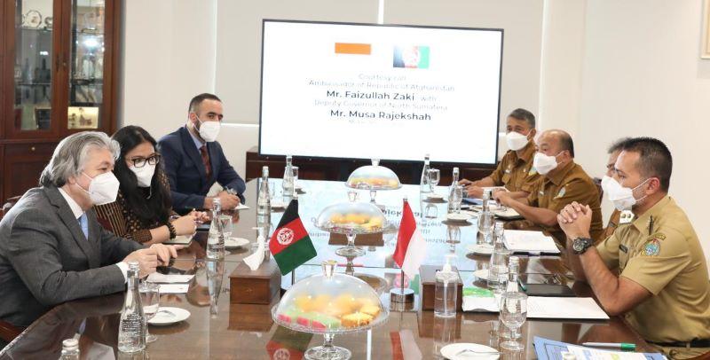 Wagub Sumut Sampaikan Berbagai Peluang Investasi, Saat Terima Dubes Afghanistan