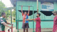 Satgas Pamtas Yonif 131/Brs Latih Pemuda Papua Untuk Menjadi Prajurit TNI