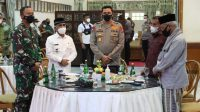 Silaturahmi Kapolda Aceh di Pendopo Bupati Aceh Utara, Ajak Ulama Edukasi Prokes dan Vaksinasi