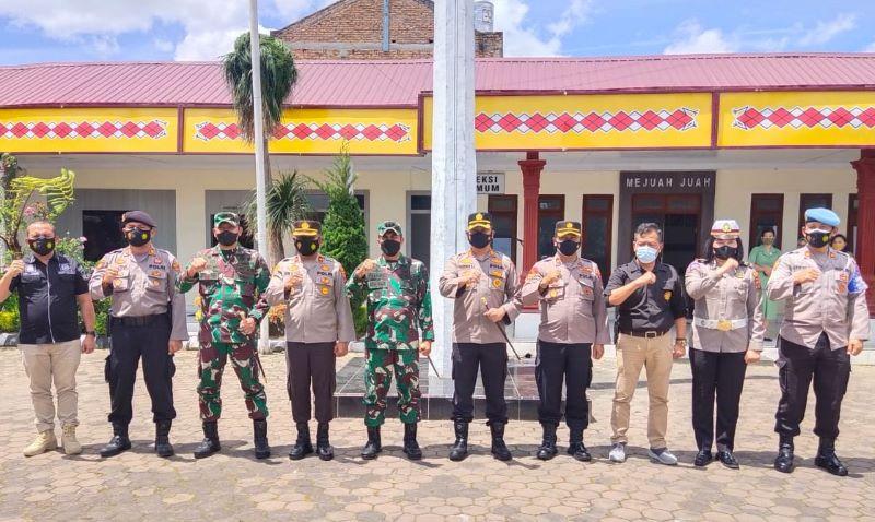 Jalin Sinergitas Danrem 023/KS Silaturahmi Polres Tanah Karo